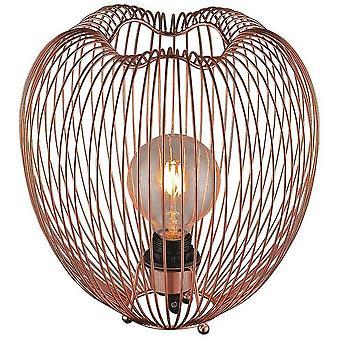 Éclairage printanier - 1 lampe de table légère en cuivre, E27
