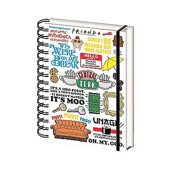 Friends Quotes A5 Hardback Notebook