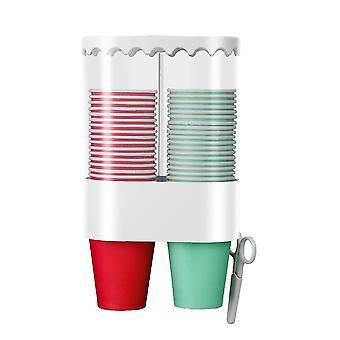 Plastic Space Saving Automatic Wall Mounted Disposable Cup Dispenser Holder