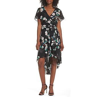 Eliza J | Faux-Wrap High/Low Dress