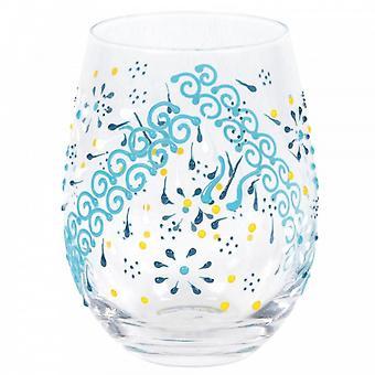 Indigo Henna Tumbler Glass