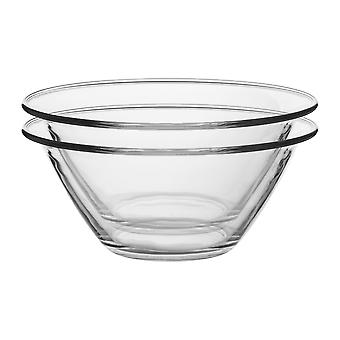 Bormioli Rocco 6pc Mr Chef Glass Nisting Mixing Bowl Set - Heavy Duty, Lave-vaisselle et micro-ondes - 2.5L