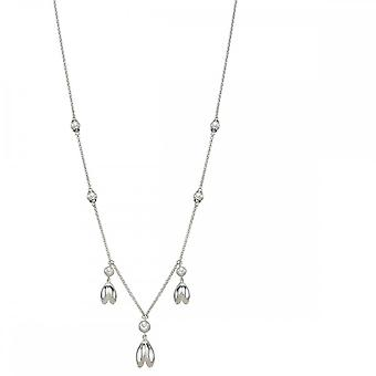Elements Silver Silver Tulip And Pearl Necklace N4291W