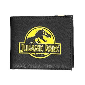 Jurassic Park Wallet Classic Movie Logo nieuwe officiële zwarte bifold