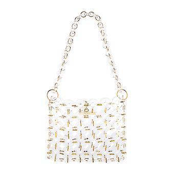 Cult Gaia 22013acclr Women's White Acrylic Shoulder Bag