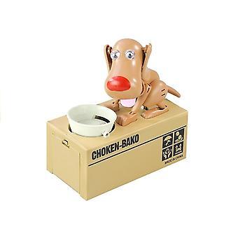 Honden spaarpot - elektrische kinder spaarpot - Lichtbruin
