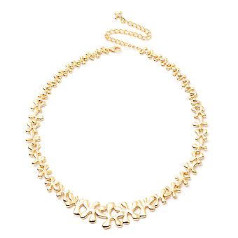 LucyQ Splash Necklace Size 20 in Yellow Gold Plated Sterling Silver