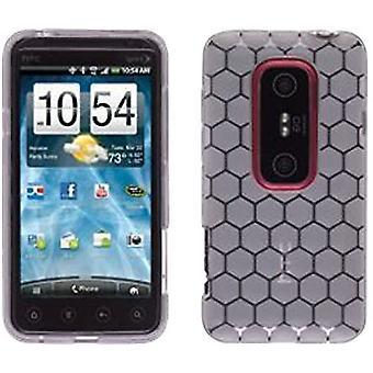 Tessco Dura-Gel Case for HTC EVO 3D - Honeycomb Clear