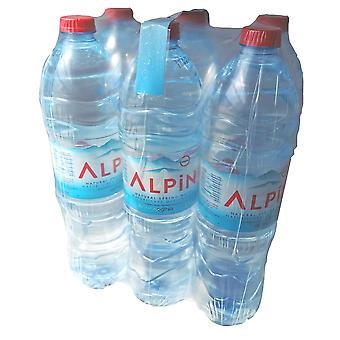 Alpin Natürliches Quellwasser 1.5L x 6