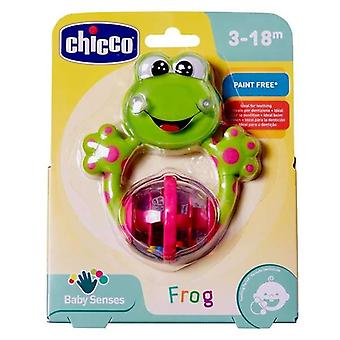 Teether for Babies Rattle Chicco (12 x 14 x 3,5 cm)