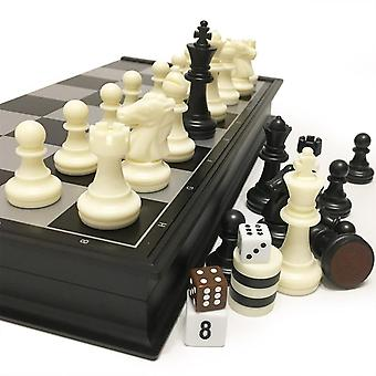 Chess And Checkers And Backgammon Set, Travel Game Magnetic, Pieces Folding