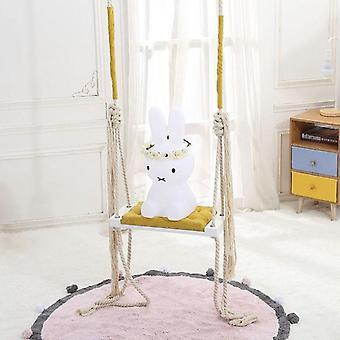 Dzieci & apos;s Drewniane Indoor Hanging Swings Set Bezpieczeństwo Baby Room Decoration