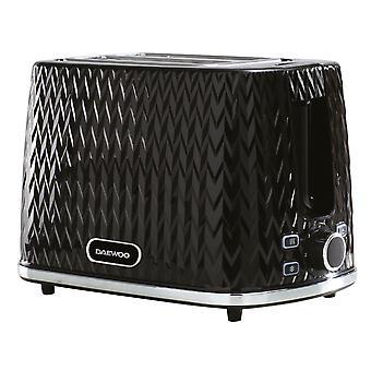 Daewoo Black Argyle 2 Slice Toaster