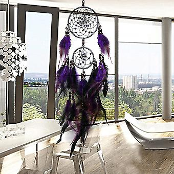Beautiful Feather Crafts - Handmade Dreamcatcher For Car Or Home Decoration