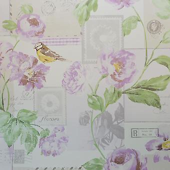 Galerie Postcard Flowers Purple