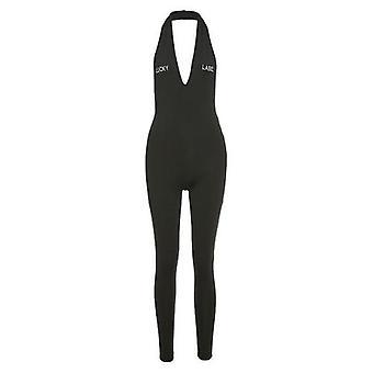 V-neck Sleeveless Slim Bodycon Sport Jumpsuit
