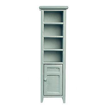 Puppen Haus hoch schlank grau Raum Saver Badezimmer Schrank Miniatur Möbel