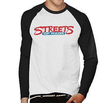 Sega Streets Of Rage Logo Men's Baseball camiseta de manga larga