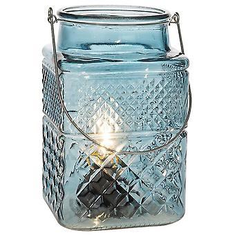 Edison LED Square Lantern Dark Grey