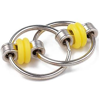 Decompression Fingertip Chain Iron Ring Keychain Adult Vent Toy