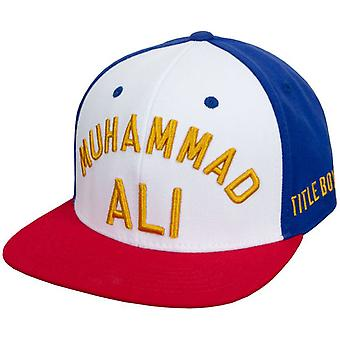 Title Boxing Muhammad Ali 2.0 Flat Bill Fit Cap - White/Red/Blue