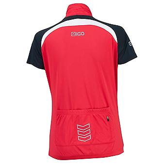 Eigo Helena Womens Short Sleeve Cycling Jersey Red / White
