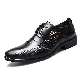 Pu Leather Classic Spiczasty toe, Oxford Formalne Buty