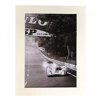 Larrini Vacarella & Hermann Le Mans 1970 A4 Mounted Photo