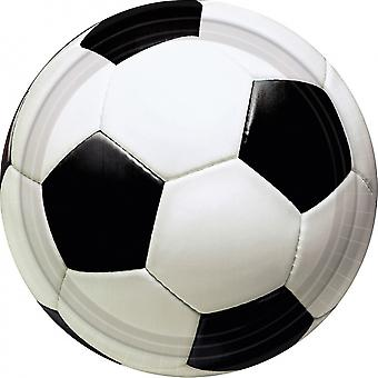 Party signs Football 8 Pieces 17.5 Cm White / Black