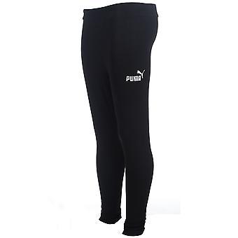 Puma Essential No.1 Logo Kids Girls Sports Fitness Legging Black