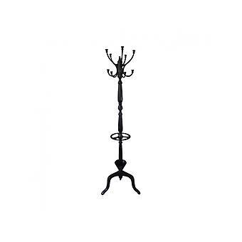 Standing Coat Hanger Black Antique