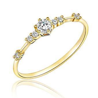 Eenvoudige kristallen ringen, vrouwelijke ring, party bruiloft sieraden