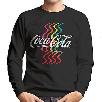 Coca Cola Rainbow Waves Logo Men's Sweatshirt
