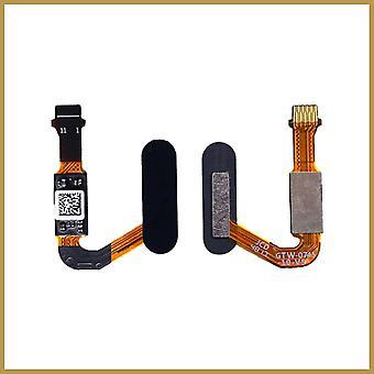 Home Button Touch ID Returknap Fingeraftryksknap Flex Kabel til Huawei P20 Pro - Sort