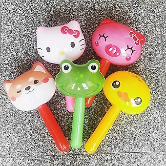 Children Outdoor Inflatable Cute Animal Head Hammer Shape Education Bell (a)