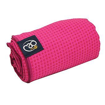 Fitness Mad agarre punto Yoga Mat toalla - rosa