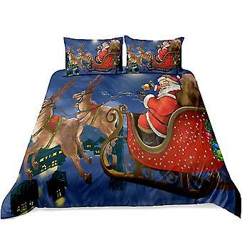 3D Reindeer Christmas Printed Bedding Set