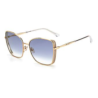 Jimmy Choo ALEXIS/S 000/1V Rose Gold/Blue Gradient Gold Mirror Solglasögon