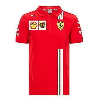 Camisa polo da Equipe Ferrari 2021 (Vermelho)