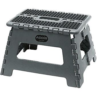 Addis Grey Folding Step Stool with Carry Handle Plastic