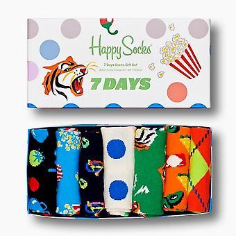 Onnelliset sukat 7 päivän sukat lahjasetti 7 pakkaus