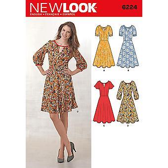 نظرة جديدة نمط الخياطة 6224 يفتقد اللباس أكمام الاختلافات أحجام 10-22