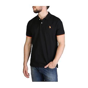 U.S. Polo Assn. - Vaatteet - Polo - 59620-199 - Miehet - musta, oranssi - XXL