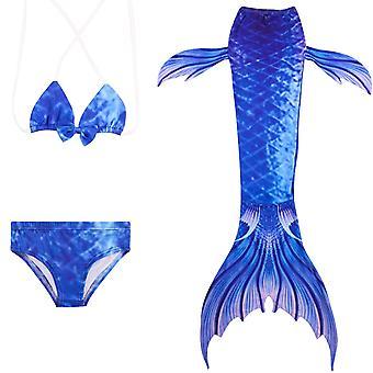 حورية البحر فتاة ملابس السباحة ثلاث قطع بيكيني الذيل للسباحة jp139