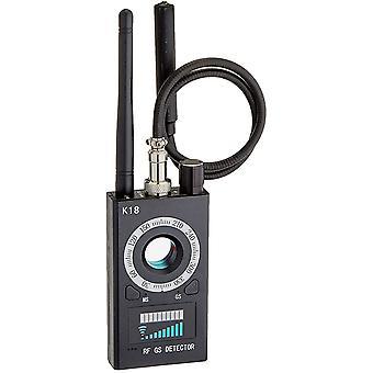 Anti Spy RF Detector Wireless Bug Detector Signal for Hidden Camera Laser Lens GSM Listening Device Finder Radar Radio Scanner Wireless Signal Alarm (Black)