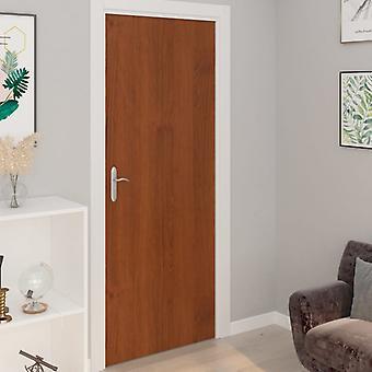 vidaXL الباب يحبط الذاتي لاصقة 4 أجهزة الكمبيوتر الشخصية. البلوط الخفيفة 210x90 سم PVC