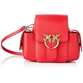 Pinko, LOVE SMART BAG GEWOON FL VIT. S Vrouw, R43_ROSSO ZUIVER, U