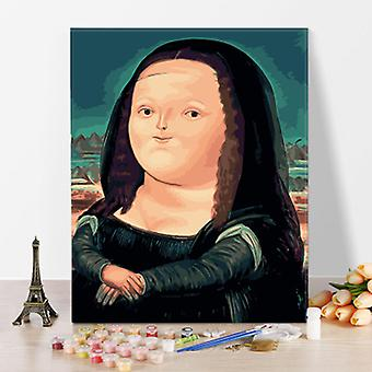 DIY Canvas Oil Pinting by Numbers Kits (Mona Lisa)