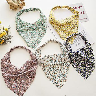 Summer floral bag headscarf elastic ribbon women's triangular binder hair accessories