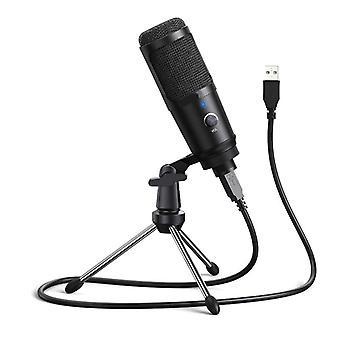 Microfoon voor computer, condensator opnamemicrofoon, plug-and-play studio